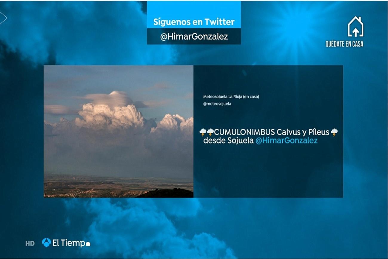 Cumulonimbus. El tiempo Antena 3. Meteosojuela