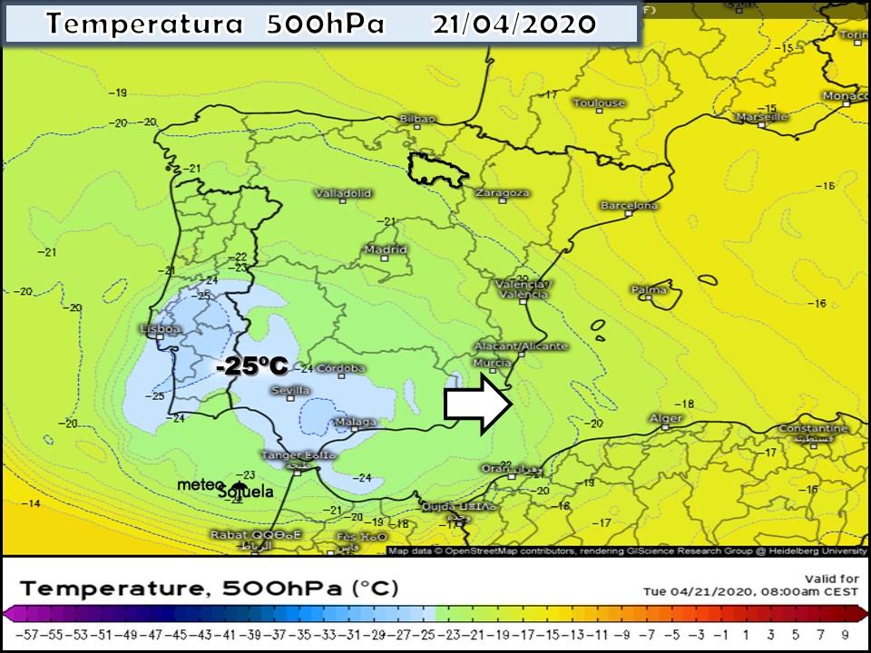 Modelos Temperaturas 500hPa. Meteosojuela