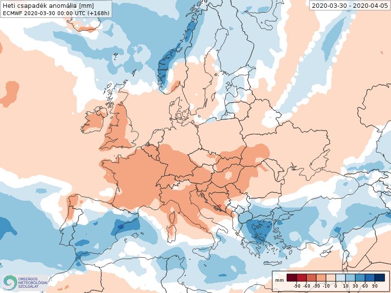 Modelos de Precipitación semanal Abril ECMWF 1ª Semana . Meteosojuela La Rioja.