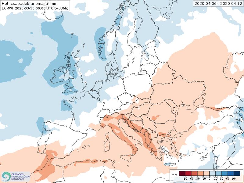Modelos de Precipitación semanal Abril ECMWF 2ª Semana . Meteosojuela La Rioja.