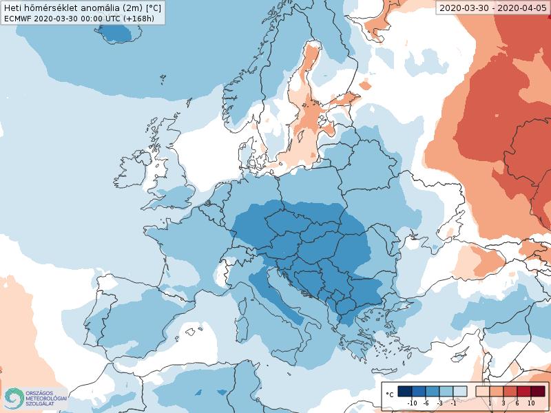 Modelos de Temperatura semanal Abril ECMWF 1ª Semana . Meteosojuela La Rioja.