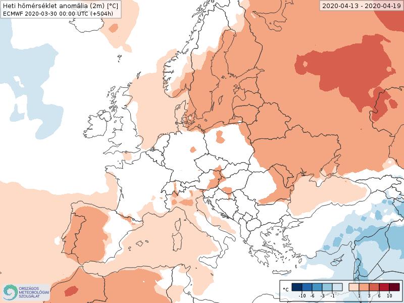 Modelos de Temperatura semanal Abril ECMWF 3ª Semana . Meteosojuela La Rioja.