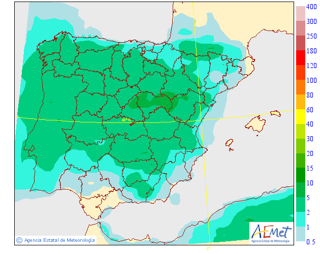 Precipitación Media según AEMET. 07 Meteosojuela La Rioja