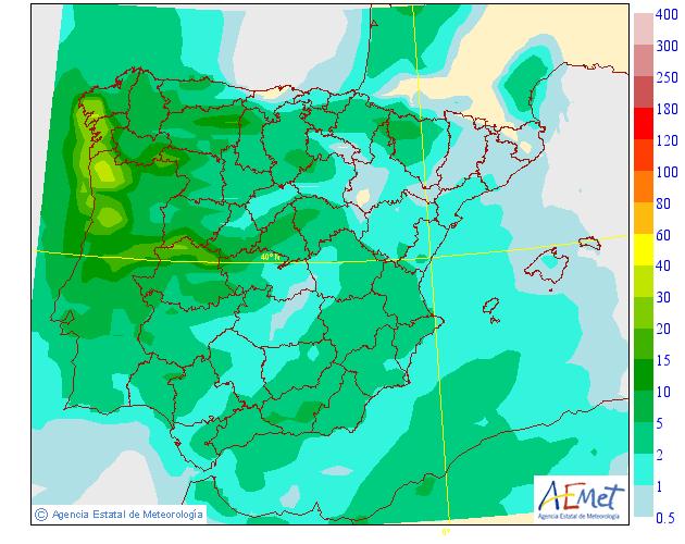 Precipitación Media según AEMET. 17 Meteosojuela La Rioja