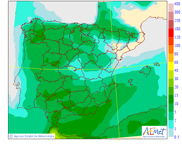 Precipitación Media según AEMET. 25 Meteosojuela La Rioja