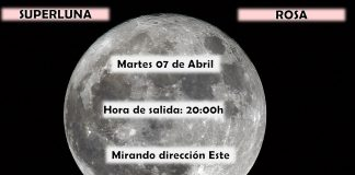 Superluna. Superluna rosa. Luna Pascual. Meteosojuela