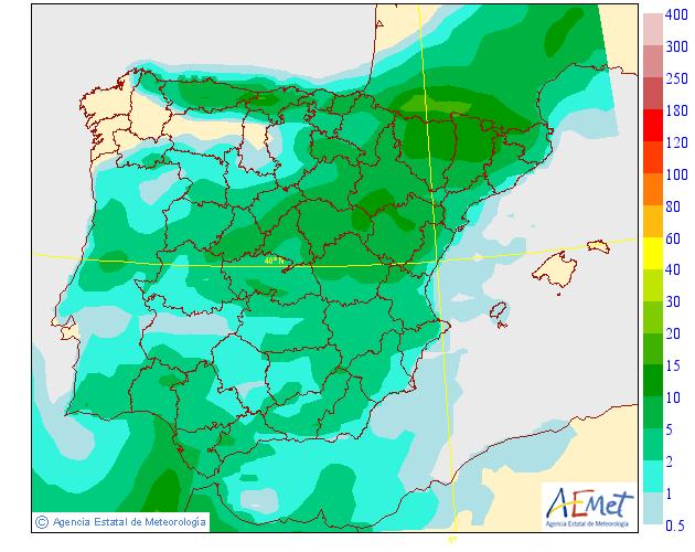 Precipitación Media según AEMET. 15 Meteosojuela La Rioja