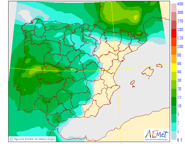 Precipitación Media según AEMET.11 Meteosojuela La Rioja