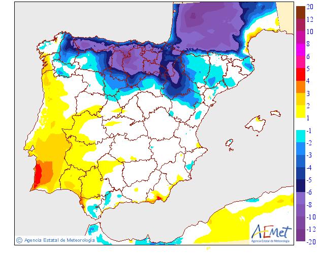 Variación de temperaturas máximas AEMET. 23 Meteosojuela