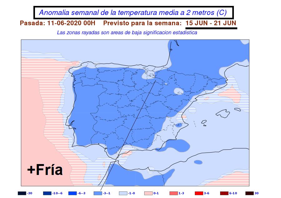 Anomalía de temperatura AEMET. Meteosojuela