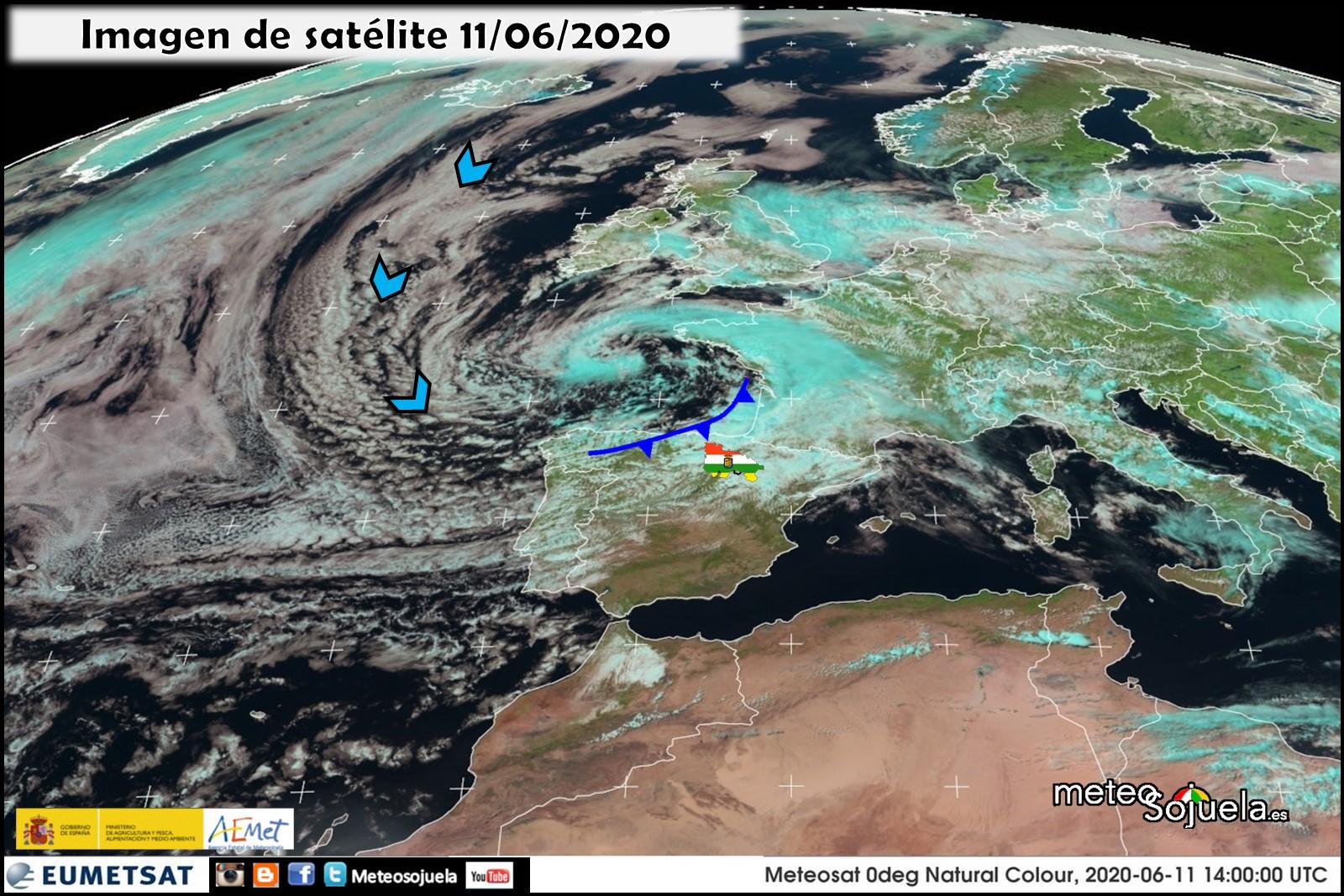 Borrasca y frente en el Atlántico. 1106 Meteosojuela