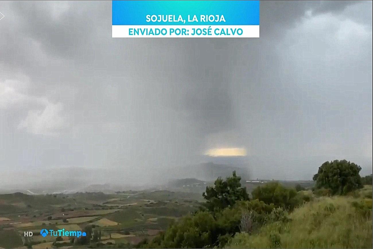 Desplomes desde Sojuela. Tu Tiempo Antena 3. 1806 Meteosojuela