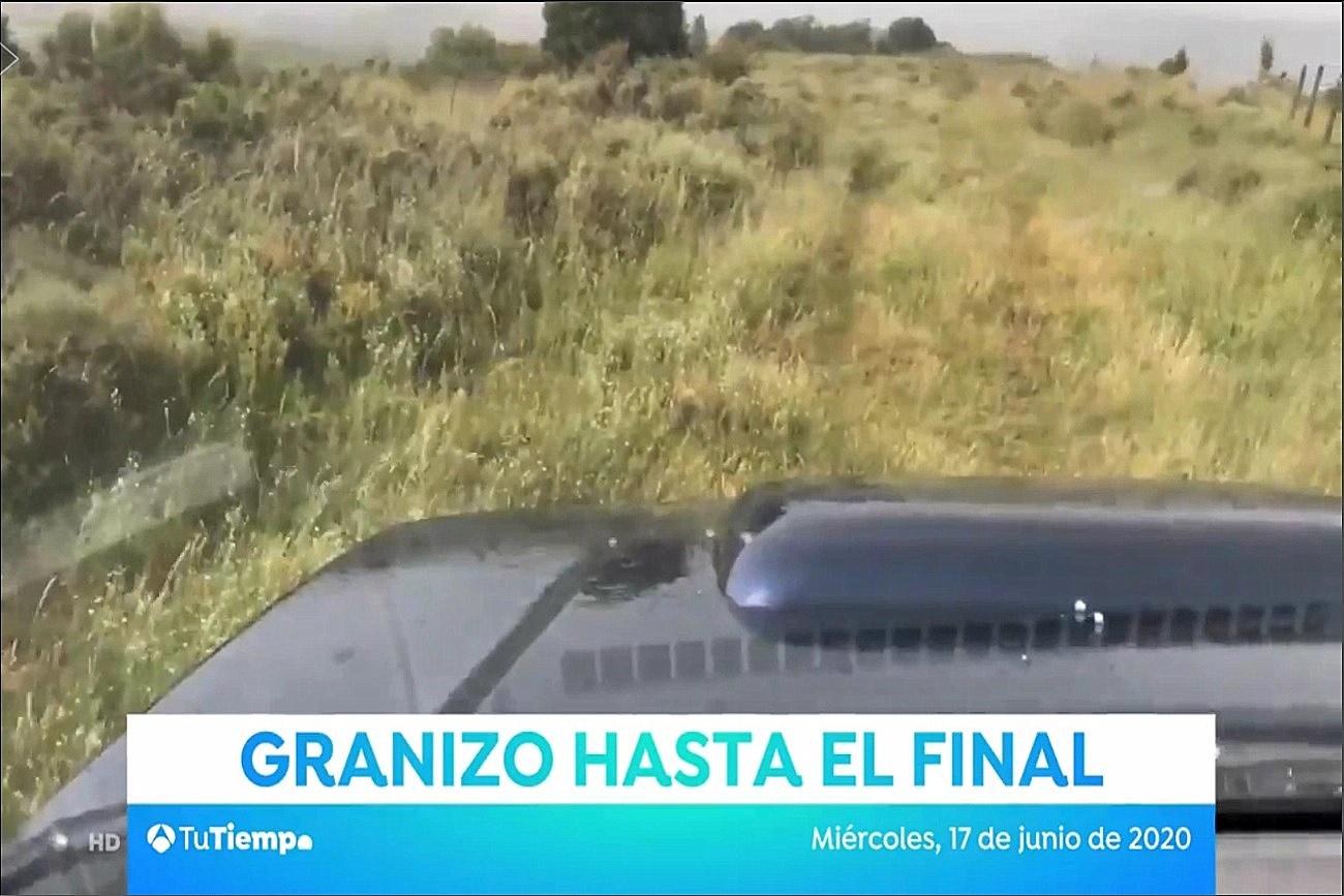 Granizo desde Sojuela. Tu Tiempo Antena 3. 1806 Meteosojuela