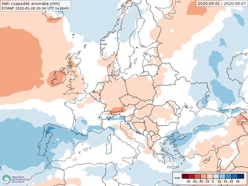 Modelos de Precipitación semanal Junio ECMWF 1ª Semana . Meteosojuela La Rioja.