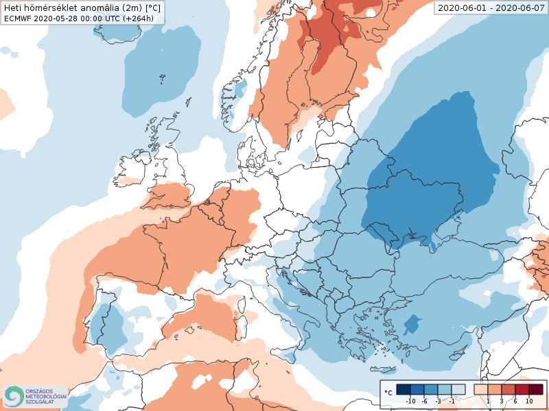 Modelos de Temperatura semanal Junio ECMWF 1ª Semana . Meteosojuela La Rioja.