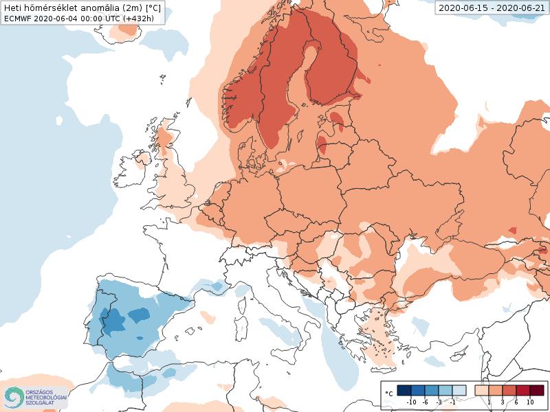 Modelos de Temperatura semanal Junio ECMWF 3ª Semana . Meteosojuela La Rioja.