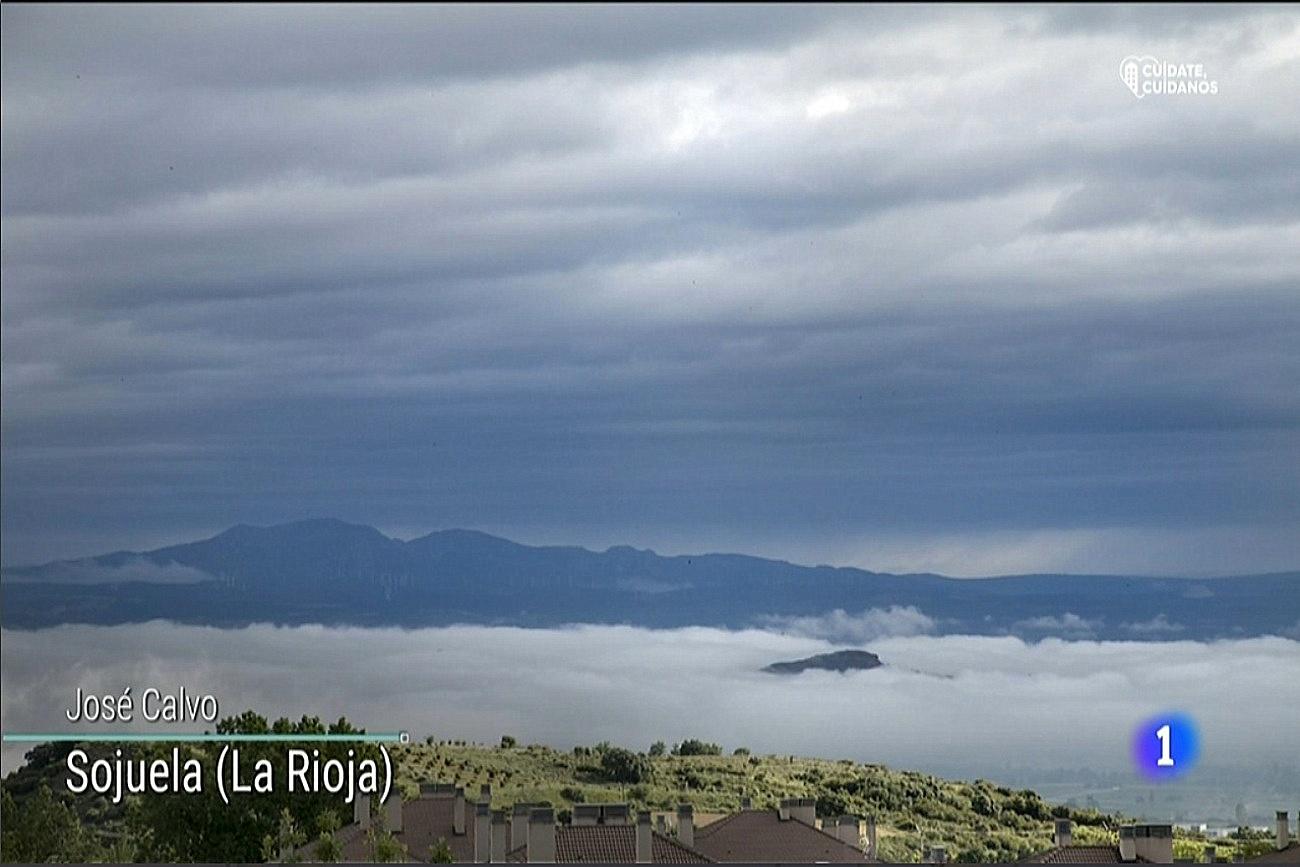 Nieblas en el valle. El tiempo de TVE1. 1206