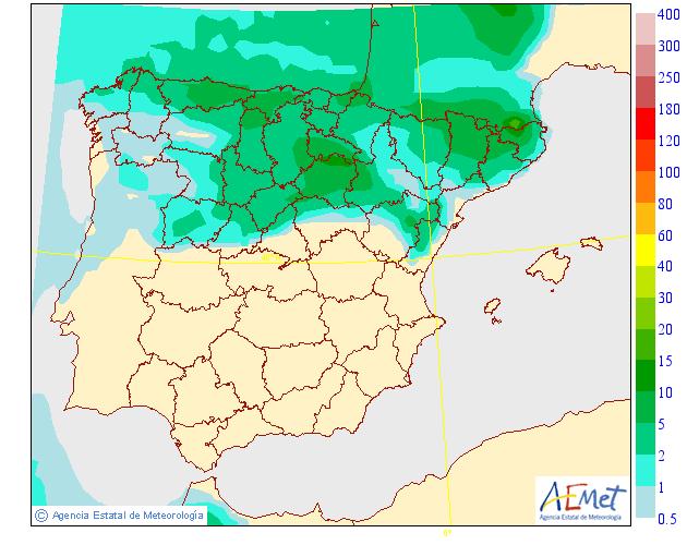 Precipitación Media según AEMET. 06 Meteosojuela La Rioja