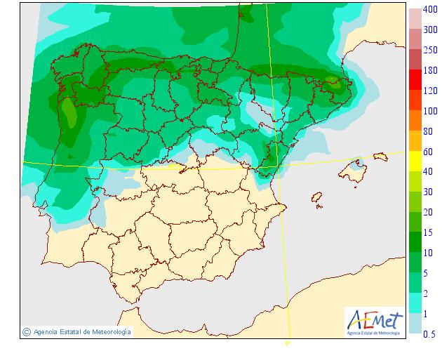 Precipitación Media según AEMET. 16 Meteosojuela La Rioja