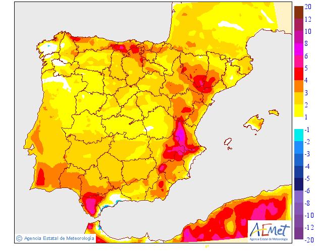 Precipitación Media según AEMET. 20 Meteosojuela La Rioja