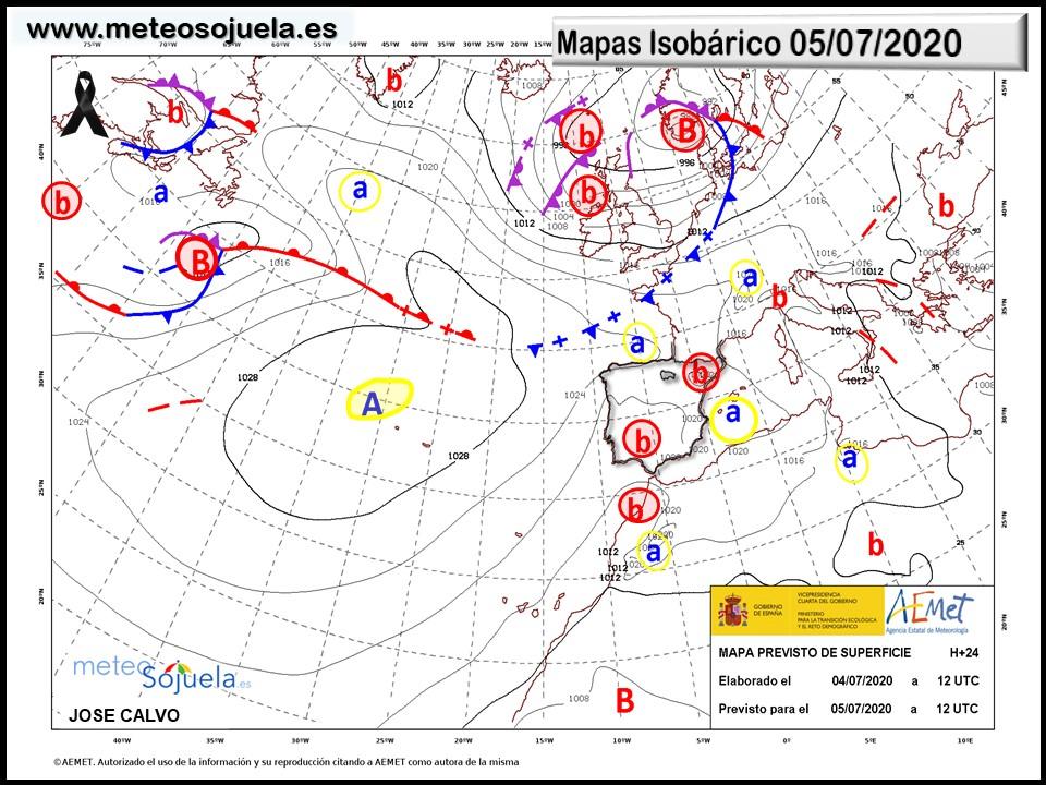 Mapa Isobárico La Rioja.