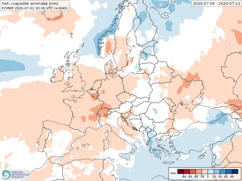 Modelos de Precipitación semanal Julio ECMWF 1ª Semana . Meteosojuela La Rioja.