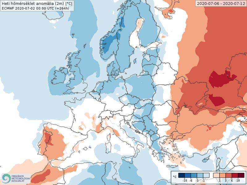 Modelos de Temperatura semanal Julio ECMWF 1ª Semana . Meteosojuela La Rioja