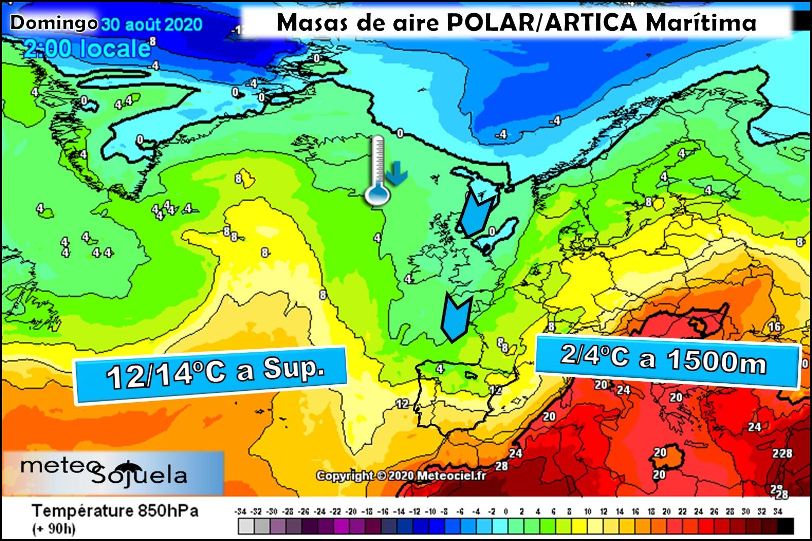 Masa de aire frio polar. Meteosojuela