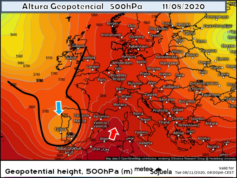 Modelos Altura Geopotencial 500 hPa. Meteosojuela