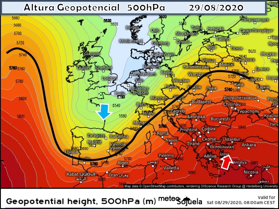 Modelos Altura Geopotencial 500hPa. Meteosojuela