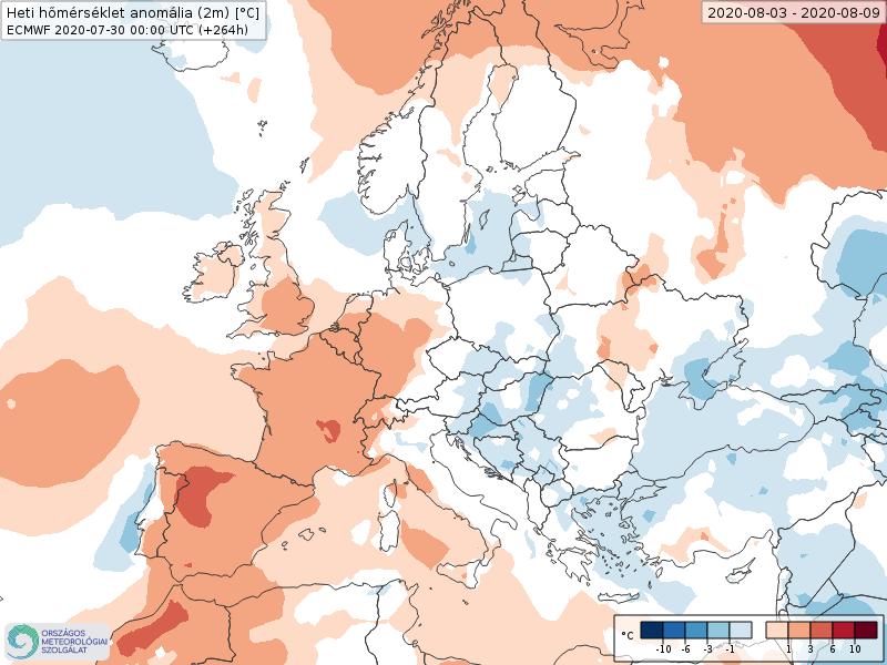 Modelos de Temperatura semanal Agosto ECMWF 1ª Semana . Meteosojuela La Rioja