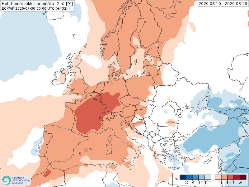 Modelos de Temperatura semanal Agosto ECMWF 2ª Semana . Meteosojuela La Rioja