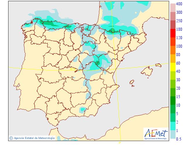 Precipitación Media según AEMET. 10 Meteosojuela La Rioja