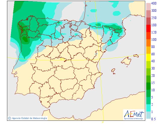 Precipitación Media según AEMET. 18 Meteosojuela La Rioja
