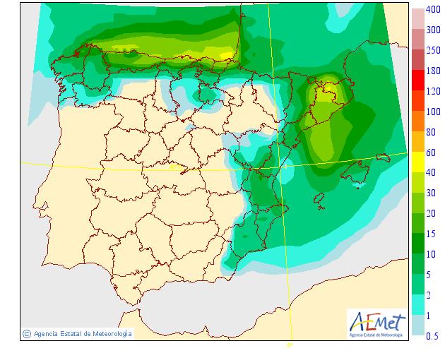 Precipitación Media según AEMET. 29 Meteosojuela La Rioja