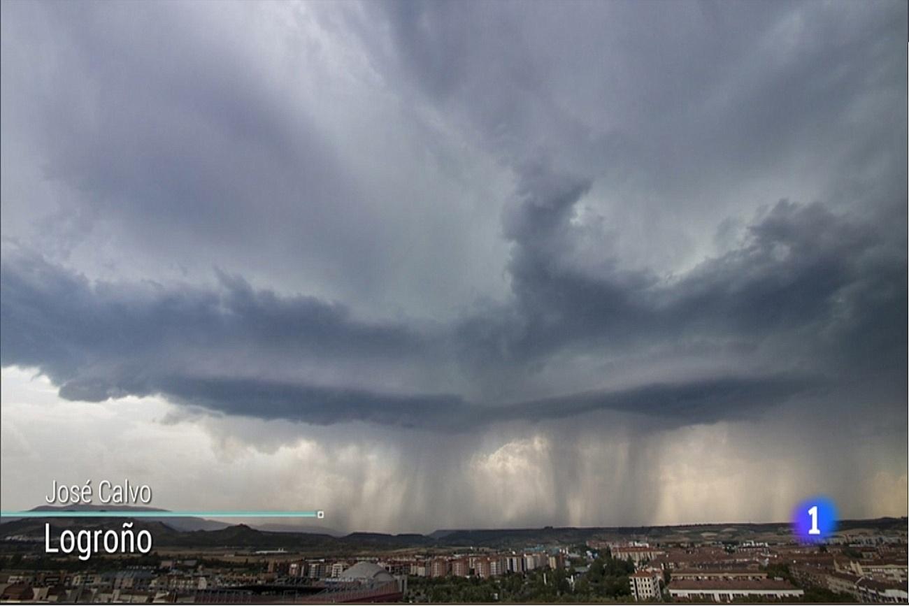 Tormenta Logroño. Tiempo TVE1 0708 Meteosojuela