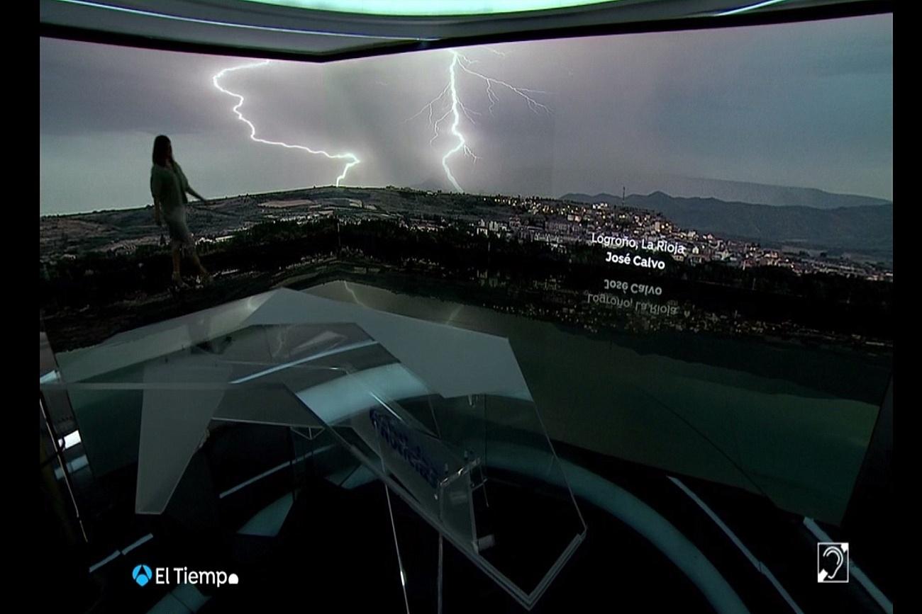 Tormenta y Rayos desde Logroño. El Tiempo de A3 1008 Meteosojuela