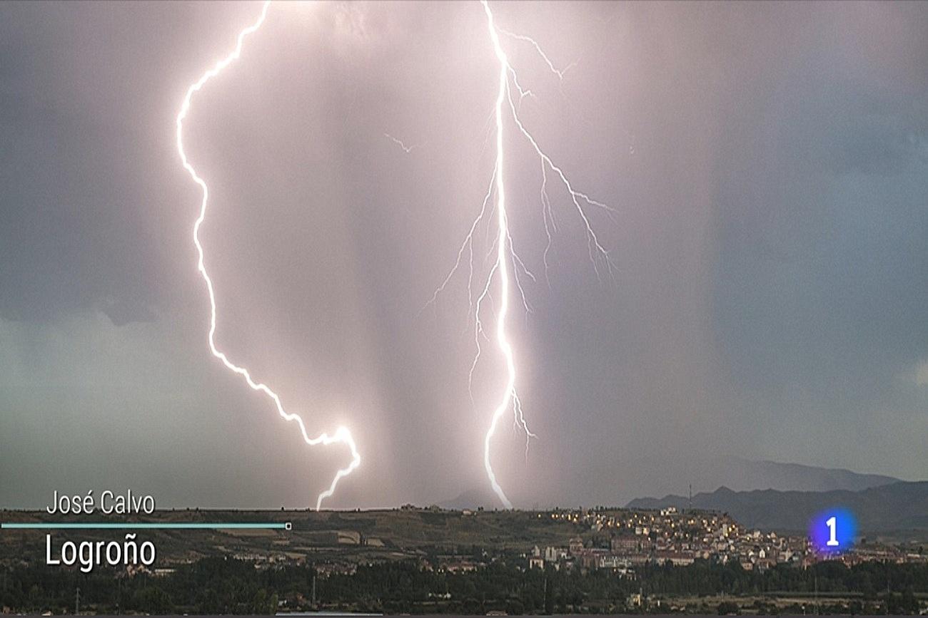 Tormenta y Rayos desde Logroño. Tiempo TVE1 1008 Meteosojuela