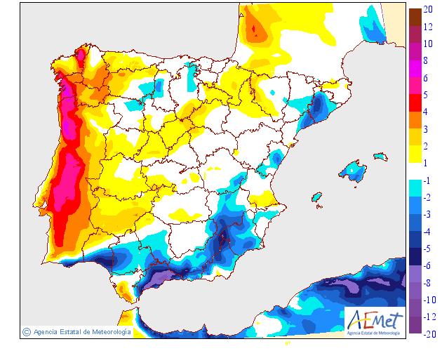 Variación de temperaturas máximas AEMET. 04 Meteosojuela