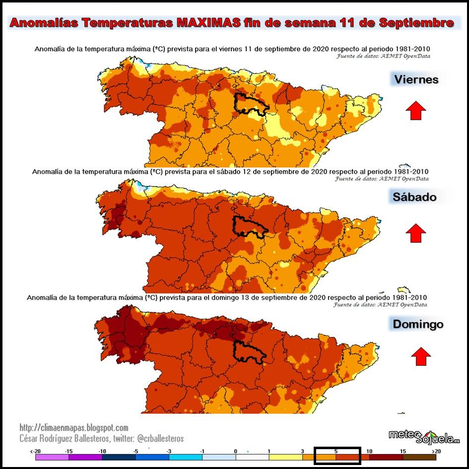 Anomalías Temperaturas Máximas.Cesar. Meteosojuela 1