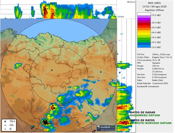 Imagen de Radar Tormentas. Meteosojuela