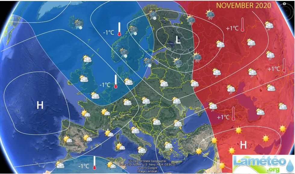 Tendencias del tiempo en Noviembre