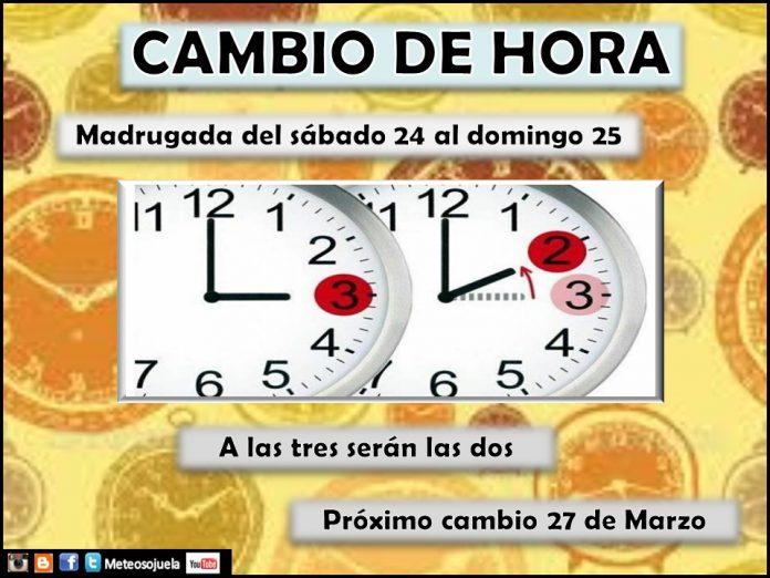 Cambio de hora. Horario de Invierno. Meteosojuela