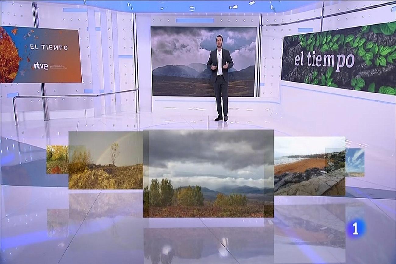 Chubascos en Demanda. 25 10 El Tiempo de TVE1. Meteosojuela