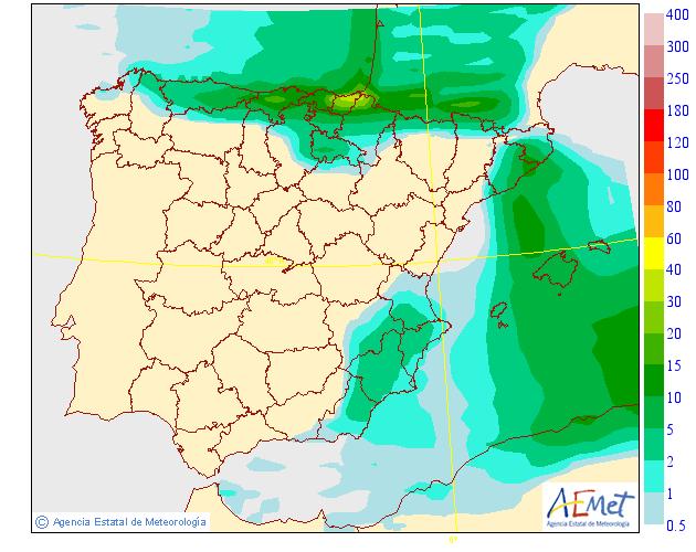 Precipitación Media según AEMET. 11 Meteosojuela La Rioja