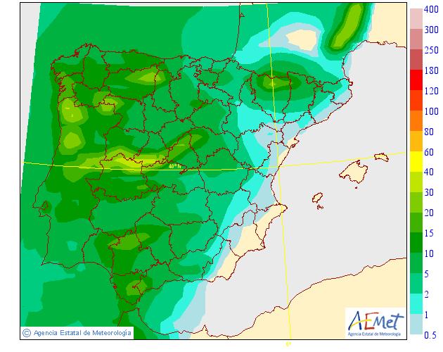 Precipitación Media según AEMET. 21 Meteosojuela La Rioja