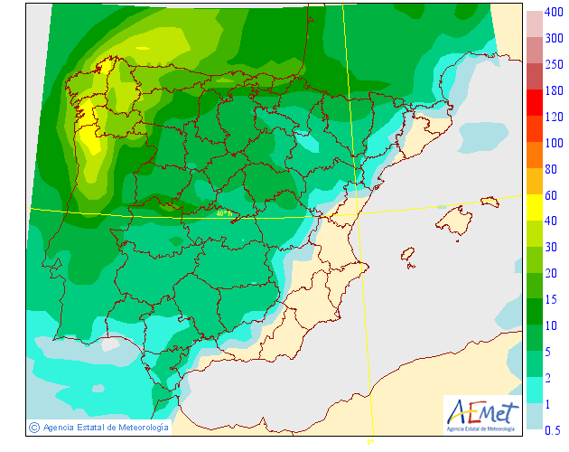 Precipitación Media según AEMET. 24 Meteosojuela La Rioja