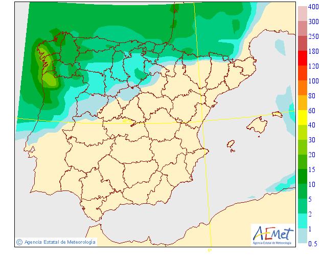 Precipitación Media según AEMET. 27 Meteosojuela La Rioja