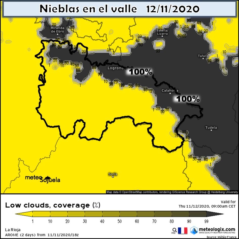 Probabilidad de Nieblas en el Valle