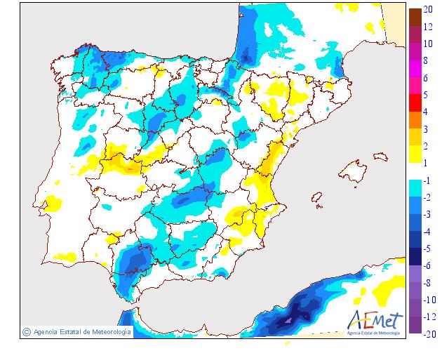 Variación de temperaturas máximas AEMET. 09 Meteosojuela